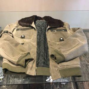 Versace jacket with fur collar xxl